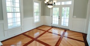 Beautiful wood floor design