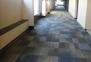 Commerical carpet tiles