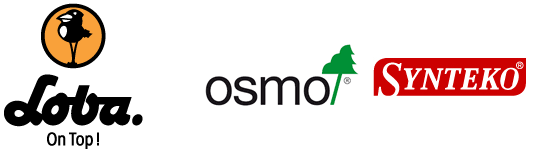 Eco-friendly, non-toxic products from Osmo, Synteko, Loba.